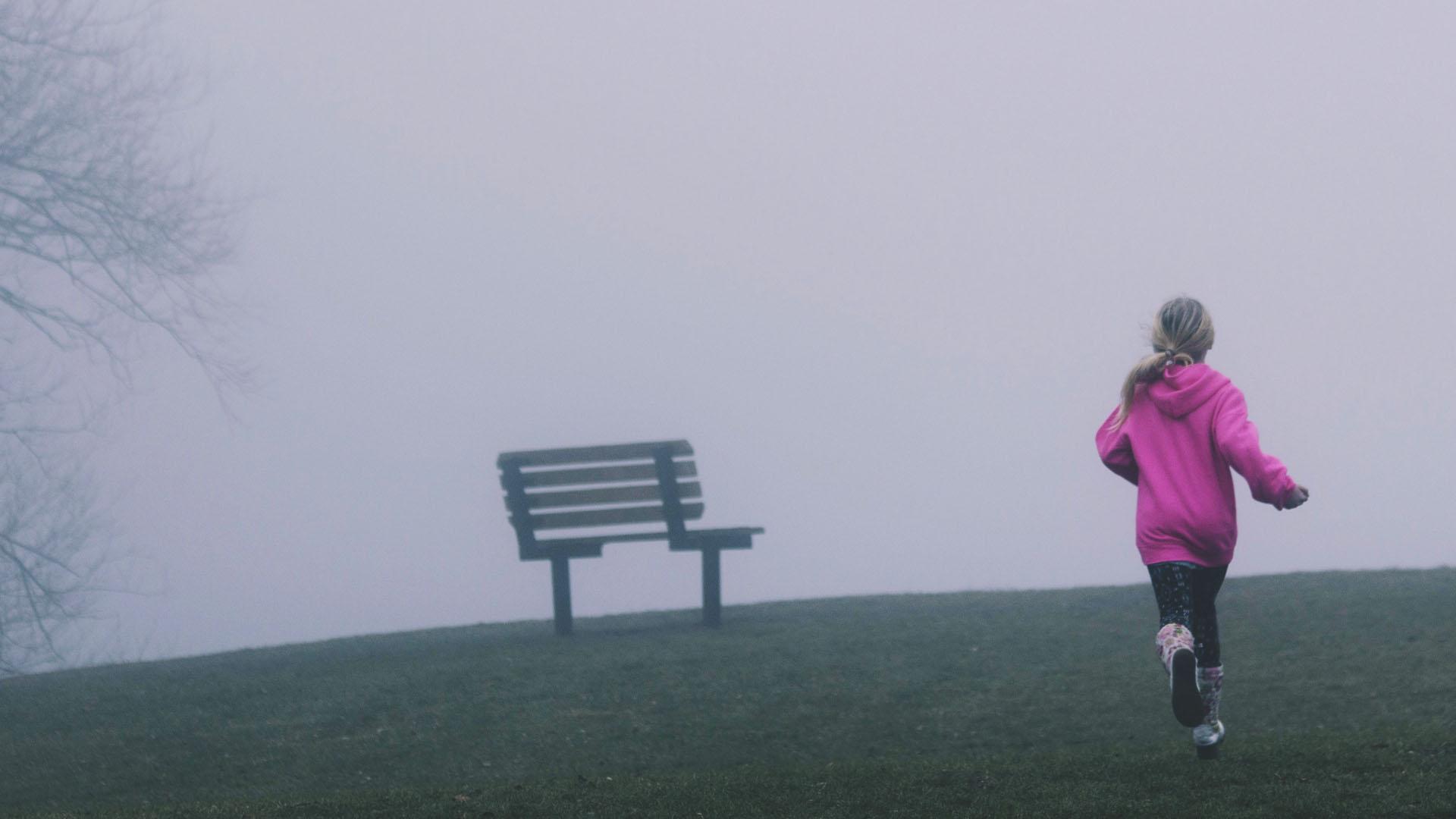Meisje rennen